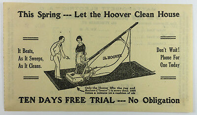 Vintage Hoover Vacuums Advertisement on Gas Electric Bill Mattapoisett MA 1920