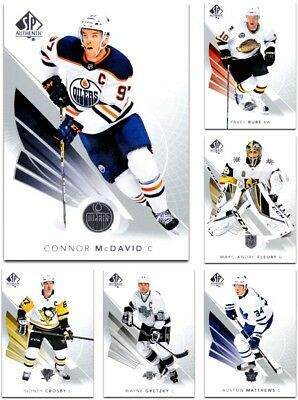 2017-18 SP Authentic **** PICK YOUR CARD **** From The BASE SET