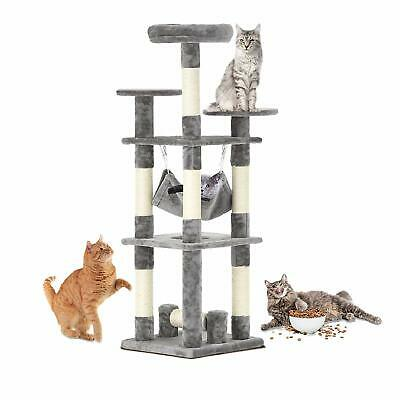 """51"""" Pet Cat Tree Play House Tower Condo Furniture Scratching Post Pet House Grey"""