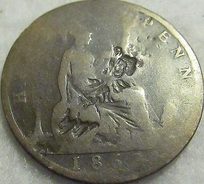 1862 Great Britain 1/2 Penny ~ Bronze, Cull Cond. ~ KM# 748
