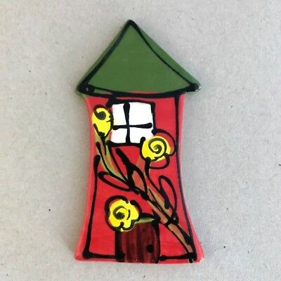WHIMSICAL CERAMIC HOUSE - Red - 100 x 55mm ~ Ceramic Mosaic Tiles