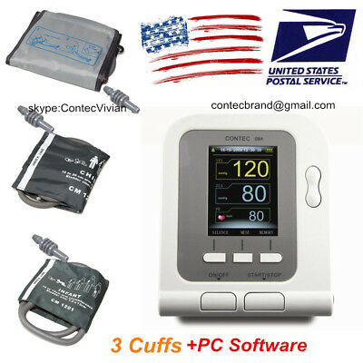 US Digital Upper Arm Blood Pressure Monitor 3 cuffs adult,child,infant,CONTEC08A