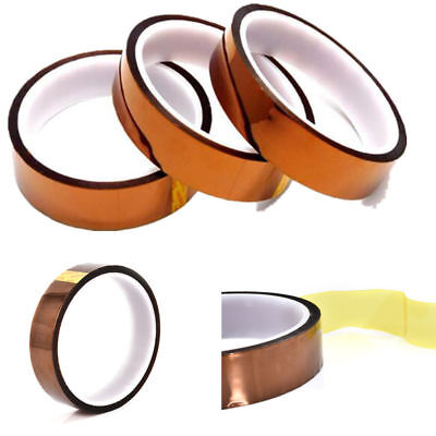 100ft Kapton Tape Adhesive High Temperature Heat Resistant Polyimide 20mm Roll