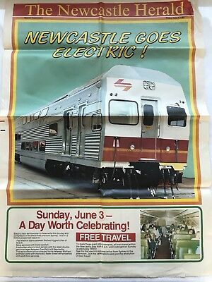 The Newcastle Herald Newspaper Electric Trains NSW Special June 1984 State Rail