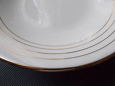 PORCELAINE VIERZON MARC LARCHEVEQUE Grd PLAT SERVICE PIEDOUCHE DECOR FILET DORE