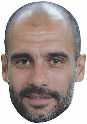 Pep Guardiola 2D Single Card Party Face Mask - Manchester Football manager