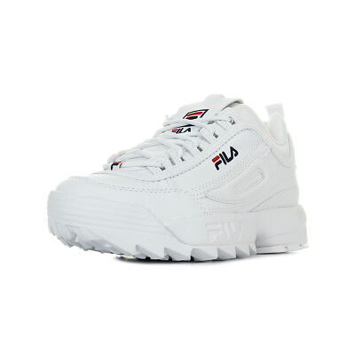 Chaussures Baskets Fila femme Disruptor Low taille Blanc Blanche Synthétique