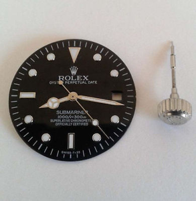 Rolex Submariner t<25 Dial Black With Minut, Second, Hour Hand