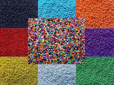 3000 Opaque Glass Seed Beads Size 11/0 2mm 50g For Jewellery BUY 4 FOR 3