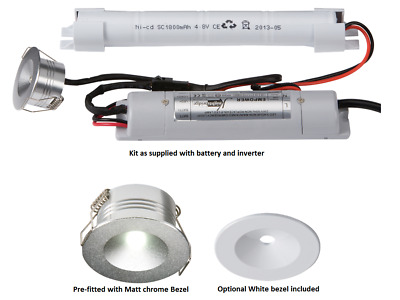 Knightsbridge 3W IP20 LED Emergency Non Maintained Downlight Commercial Light