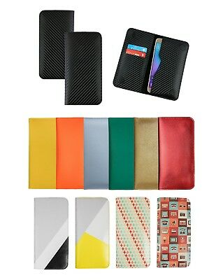 Textured PU Leather Magnetic Slim Wallet Case Cover Fits Brondi Phones