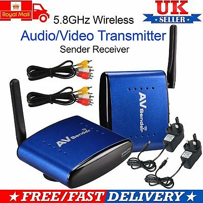 5.8GHz Wireless AV Sender TV STB Audio Video Transmitter Receiver Plug and Play