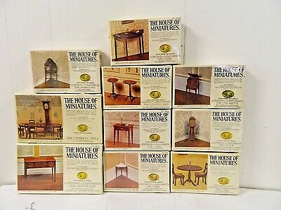 X ActoThe House Of Miniatures Hepplewhite Dollhouse Furniture Kits Set /10  NIB