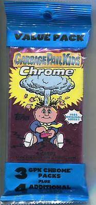 Garbage Pail Kids Chrome Series 1 Factory Sealed Value Pack - 3 Packs + 4 Cards