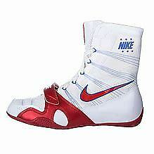 Nike Hyper KO Boxing Boot WHITE/RED SIZE UK 9,US 10, EU 44 NEW