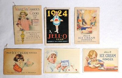 ESZ5029 Vintage Lot of 6 JELLO RECIPE BOOKLETS w/ Ladies on Cover Genesee 1920s[
