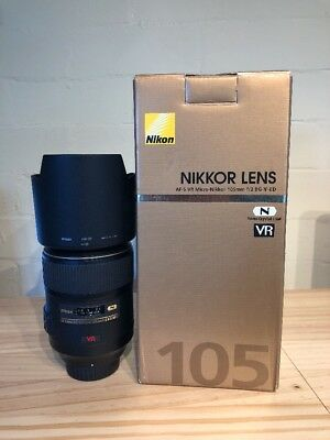 Nikon 105mm F/2.8 AF-S VR IF ED G Lens Prime Macro Micro Immaculate boxed