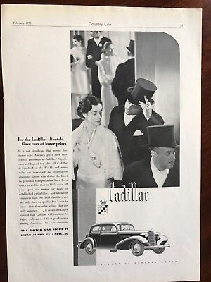 E 1935 Cadillac Finer Cars At Lower Prices Ad