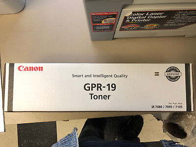 Genuine Canon GPR-19 Toner Cartridge BLACK for ImageRunner 7086/7095/7105