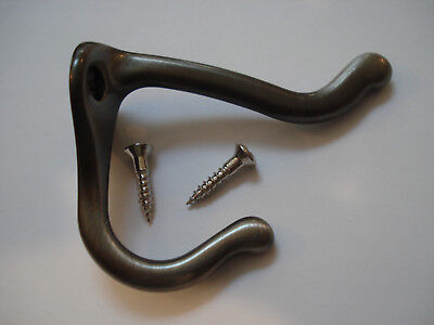 "Lot of 22 H.B. Ives 3"" Coat and Hat Hooks satin nickel   571MB15A Brass"