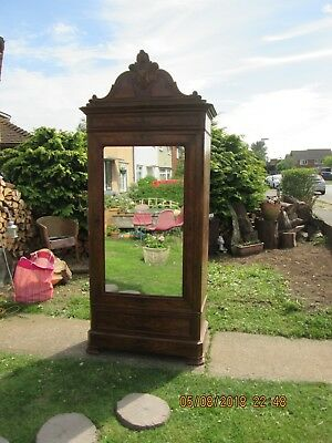 Antique French mirror door armoire wardrobe see last picture 4 real wood colour