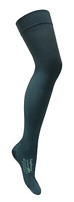 Saphena - Open Toe Thigh High Anti Embolism Compression Stockings with Grips