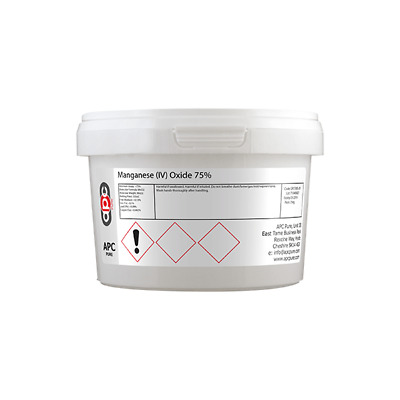 Manganese Dioxide 75% (Manganese IV Oxide)  250g **Free Delivery** APC Pure