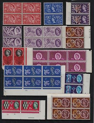 GB 1950s 60s Commemorative STAMPS Multipuls INC CYL UNMOUNTED MINT Ref:QK539a