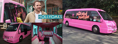 Pink Limo Partybus (as seen on Hollyoaks) Optare Alero Coifed 16 passenger