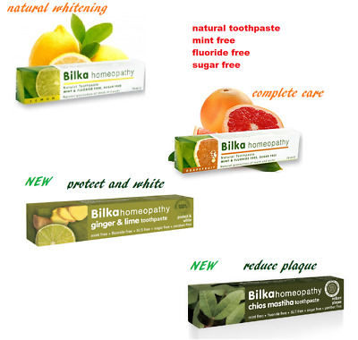 Bilka Homeopathy Natural whitening LEMON and GRAPEFRUIT Toothpaste  75ml