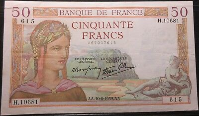 1939 France Fifty Franc Note