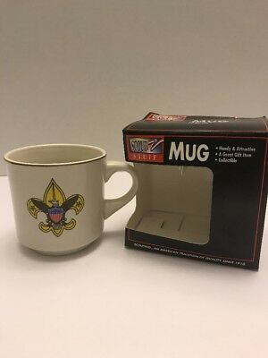Vintage Scout Stuff Boy Scouts of America Drink Mug Eagle Cup 1996