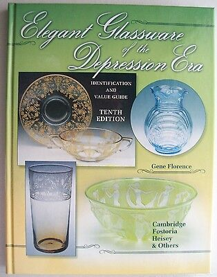 Vintage Elegant Glass $$$ Price Value Guide Collector's Book Hardback Color Pics