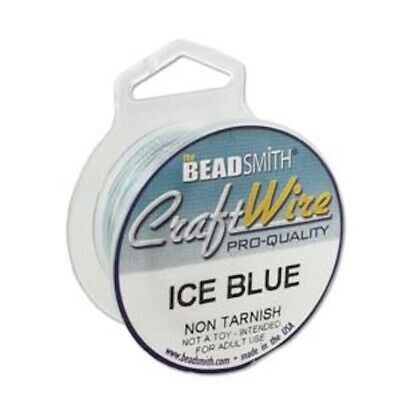 6 yard Spool Tarnish Resistant Ice Blue Wrapping Wire / 20 gauge