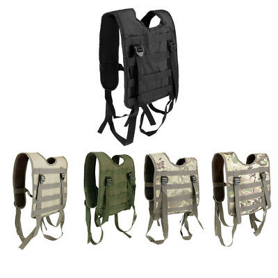 Tactical Belt Suspenders Shoulder Combat Harness Army Military Hunting Vest