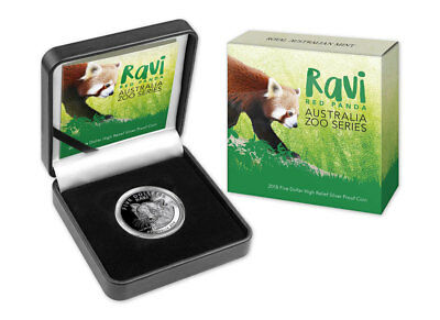 2018 Australia Australia Zoo - Ravi Red Panda 1 oz Silver HR Proof $5 SKU52981