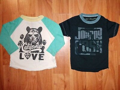 Lot of 2 ROWDY SPROUT 3-6 Months Shirts | Cali Love GUC | Johnny Cash VGUC