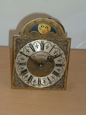 Vintage Dutch wall clock movement with Warmink moonphase dial - for spares