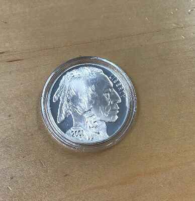 2001-P Proof AMERICAN BUFFALO Comm SILVER Dollar KEY! NO BOX OR PAPERS (E6)