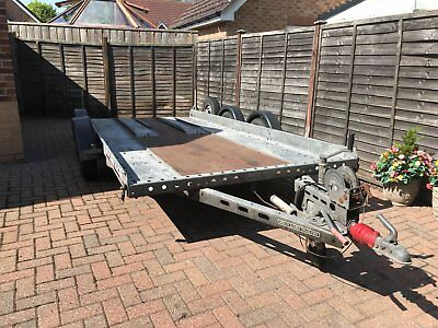 Brian james A Series car transporter fully galvanised with ramps 14 ft by 6ft