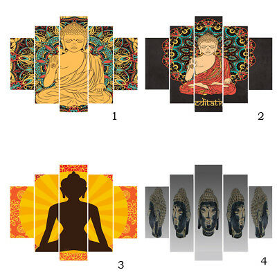 5Pcs Modern Large Abstract Art Buddhist Painting Picture Wall Hanging Decor
