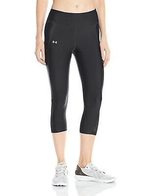 f89f4550ed UNDER ARMOUR FLY-BY Womens Running Leggings-Black & blue NWT-Size ...