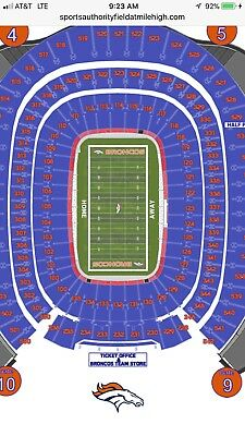 1-8 Kenny Chesney Tickets Denver Sports Authority Field 6/30 Concert