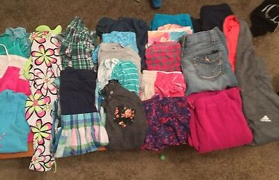 Huge Lot of 31 Pieces Girls Clothing size 12/14 Justice, adidas, A&f and more!