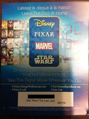 Star Wars: The Last Jedi  Digital Canada Code Only *Read Description*