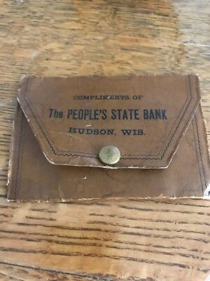 The Peoples State Bank - Hudson, WI Advertising Sewing Needle Case Give Away