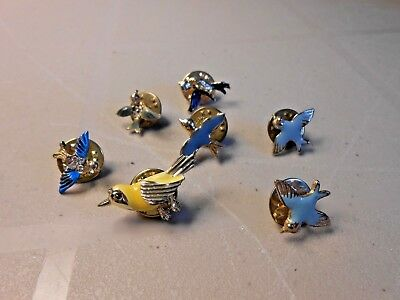 Vintage Blue birds and Blue of Happiness lapel pins