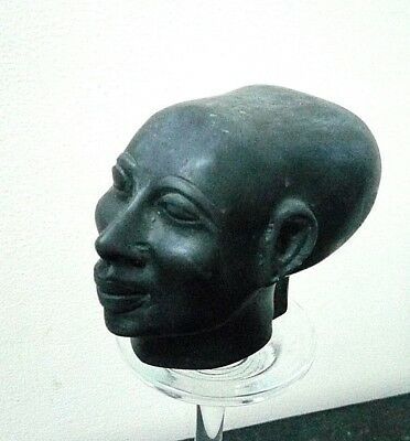 Rare Ancient Egyptian Antique Head Queen Akhenaten , Echnaton 1334-1300 BC