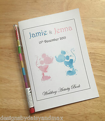 A6 Children's Kids Wedding Colouring Activity Book Pack Favour - Disney Inspired
