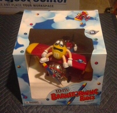 M&M's World Red and Yellow Character Barnstorming Airplane Candy Dispenser MINT